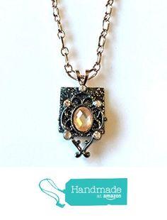 Art Deco Rhinestone Pendant Necklace from NatureAngels - Handmade, Upcycled and Vintage http://www.amazon.com/dp/B015HEHEJ8/ref=hnd_sw_r_pi_dp_trNfwb1M047V0 #handmadeatamazon