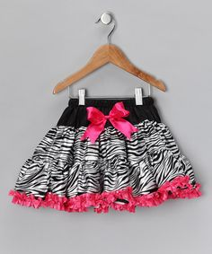 Take a look at this Hot Pink Zebra Pettiskirt - Toddler & Girls by Divas & Pearls on #zulily today!