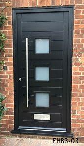 contemporary door 3 pane