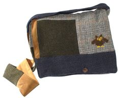 Owl Messenger Bag by Tweedable on Etsy, $40.00