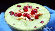 Spiced Pomegranate Apple Cider Smoothie Recipe by Green Blender