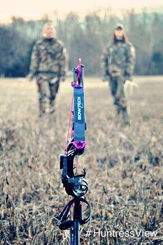 Andrea Haas & Allison O'Nan | Huntress View women hunters, huntress, archery, bow hunting, camo, Stokerized Stabilizers, Bowtech HeartBreaker, Carbon Rose, Prois, EvoOutdoors