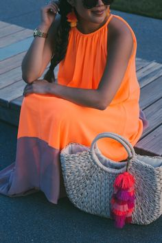 { the $17 neon maxi dress you need for your next summer attire... }