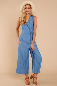 474075ba21 Put It Into Perspective Chambray Jumpsuit