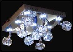 LAMPARA TECHO JT9015/9 (L: 26 * W: 26 * H: 15 ACERO INOXIDABLE Y CRISTAL G4 20W Ø38 * 9 * 9 LED)