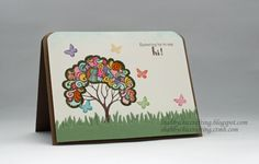 #CTMH #Close to My Heart A Tree - Hi Hello Card