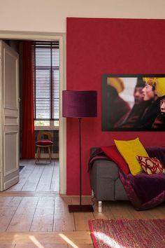 Decoration Salon Lumineux Ton Rouge