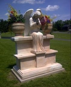 Cemetery Angels SO NEAT -- SO PLAIN -- SO LOVELY……….YOU ARE DOING A GREAT JOB, DEAR GUARDIAN ANGEL………ccp