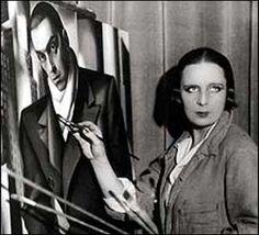 Tamara Lempicka - Famous Art Deco Artist Tamara de Lempicka was the most famous painter in Famous Artists, Great Artists, Tamara Lempicka, Moda Art Deco, Culture Art, Estilo Art Deco, Art Deco Stil, Foto Art, Portraits