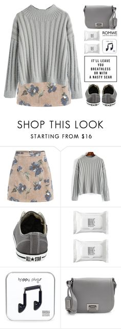 """""""Romwe 8"""" by scarlett-morwenna ❤ liked on Polyvore featuring Converse, Make, Badgley Mischka, modern and vintage"""