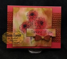 "Pickled Potpourri Thinking of You card - featuring ""Dahlia"" Digital Stamp Set from Pickled Potpourri www.PickledPotpourri.com #pickledpotpourri #digi #digistamps #digitalstamps #papercrafting #papercrafts #printables"