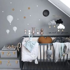 Nordic friends❕ Disa the deer, Freja the arctic fox, Oden the moose, Loke the lynx & Balder the bear💘 ▫️stickstay. Baby Bedroom, Baby Boy Rooms, Baby Room Decor, Kids Bedroom, Bedroom Decor, Nursery Room, Nursery Themes, Kids Rooms, Baby Furniture