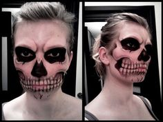 Skull make-up. @Monica Forghani Pegram please do this !! I'll see what I can do @CharlieandJasmine Hall