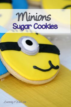 We love the minions and who could resist these yellow cuties? Why not whip up a batch of delicious minions sugar cookies to celebrate your love?