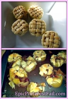 Apple pie baked inside of an apple - Epic Pinterest Fail!