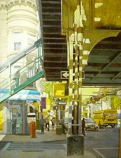 Jamaica Avenue, Woodhaven, painting by Jose Moya