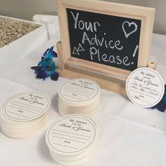 100 x Letterpress Wedding Advice Coasters for Bride & Groom