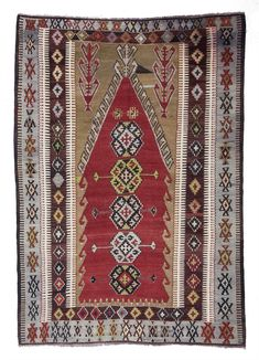 Antique Konya Kilim Rug - 0416 Category: Antique Kilim Rugs Antique Konya Obruk Kilim Rug woven with vegetable-dyed wool. This piece is Hand Knotted Rugs, Woven Rug, Stair Rug Runner, Floral Rug, Tribal Rug, Kilim Rugs, Vintage Rugs, Colorful Rugs, Rugs On Carpet