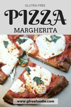 Ah, the classic pizza margherita. A never-fail combination of flavors, and this one is made with a completely grain-free pizza crust. Eat your heart out! Best Gluten Free Recipes, Gluten Free Pizza, Allergy Free Recipes, Gluten Free Dinner, Easy Healthy Recipes, Healthy Snacks, Easy Meals, Dairy Free, Margherita Recipe
