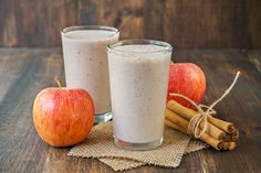 For a healthy protein-packed shake that tastes just like apple pie, try this Apple Pie Shakeology smoothie! Easy to make and so delicious. Apple Smoothie Recipes, Apple Smoothies, Yummy Smoothies, Vitamix Recipes, Green Smoothies, Shake Recipes, Diet Recipes, Beach Bodys, Psyllium
