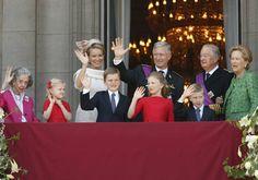 Muere la reina Fabiola de Bélgica - Fotografía de 2013 de la familia real belga en el Palacio Real de Bruselas - RTVE.es