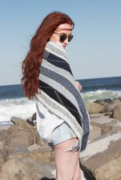 Sunset Wrap hand knitting pattern #knitting #shawl #knitwear #margeausoboti