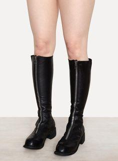 PL3 Soft Horse Mid Front Zip Boots