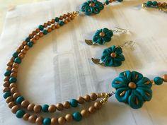 Beaded Necklace Patterns, Beaded Jewelry, Beaded Bracelets, Teracotta Jewellery, Terracotta Jewellery Designs, Funky Jewelry, Polymers, Handmade Jewellery, How To Make Beads