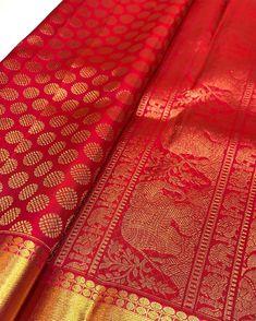 Pure kanjivaram pink blended with red silk saree from our loom. Pure silk assured with silk mark hologram. Pattu Sarees Wedding, Kuppadam Pattu Sarees, Silk Saree Kanchipuram, Indian Silk Sarees, Indian Beauty Saree, Saris, Saree Blouse Neck Designs, Designer Silk Sarees, Saree Dress