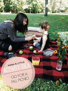Activity Idea: What to bring along on a fall picnic date with your little.