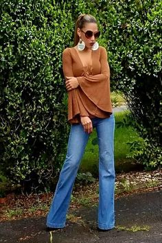 2fbd797a424 Buy Suede Bell Sleeve Bodysuit - Camel at Style Loft for only   19.99