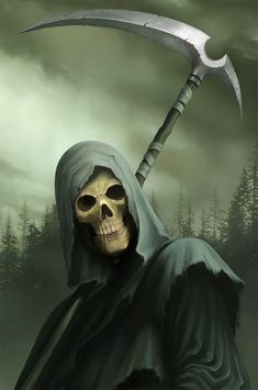 Cemeteries Ghosts Graveyards Spirits:  The Grim Reaper.