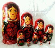 "Large Collectible Ukrainian 10 Piece Nesting Doll 10 75"" | eBay"