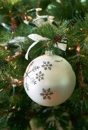 Snowflake Ornament Pearl - Rivièra Maison - Kerstbal