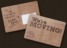 moving cards of cardboard! Cool! @Erin B Simpson   Be still my tree hugging heart!