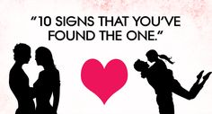 10 signs that you've found THE ONE