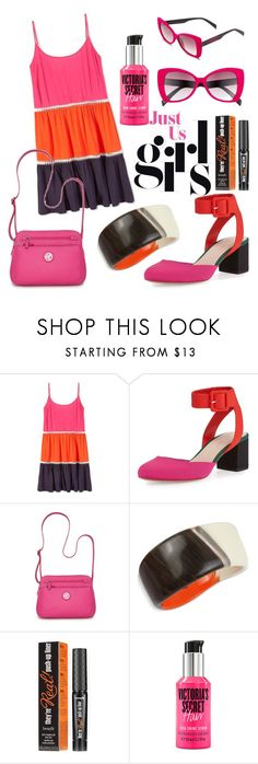 """""""Color-Blocking"""" by elenp80 ❤ liked on Polyvore featuring Tory Burch, Loeffler Randall, Kim Rogers, Robert Lee Morris, Benefit, Victoria's Secret and Italia Independent"""