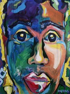 Portrait painting by Julia Pappas