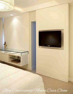 Construindo Minha Casa Clean: TVs Embutida em Vidros, Espelhos e Portas! Veja es...