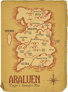 Map of Araluen - From the Ranger's Apprentice World