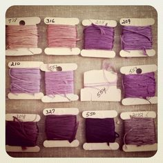 lavender EMBROIDERY THREADS