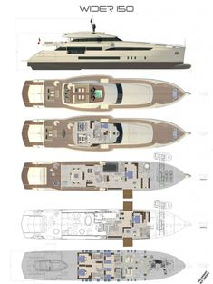 ULYSSES - All deck plans. Fraser Yachts | Yacht Design | Pinterest | Yacht design, Luxury yachts ...