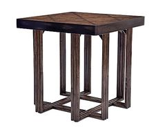 #C406-260 - Crushed Bamboo Square End Table
