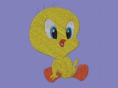 Programmazione ricamo - Embroidery design - Baby Looney Tunes - Baby Titti - Baby Tweety di CamieRicami su Etsy