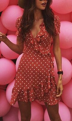 NYX MINI WRAP DRESS IN POLKA DOT