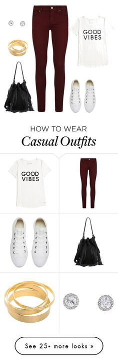 """Casual yet cute"" by kaylanmarie808 on Polyvore featuring Converse, Paige Denim, Tommy Hilfiger and Loeffler Randall"