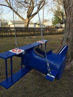 Swing Playground Design, Backyard Playground, Backyard For Kids, Diy For Kids, Barrel Projects, Outdoor Projects, Commercial Playground Equipment, Home Daycare, Kids Ride On