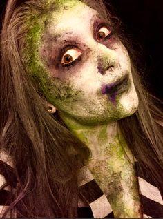 Beetlejuice Makeup Halloween face paint.