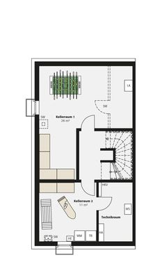 Doppelhaus Sinus | INTERHOMES AG Bungalow, Floor Plans, Country, House, Image, Home Decor, Arquitetura, Potsdam, Closed Kitchen