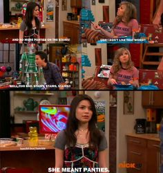 I haven't seen many episodes of ICarly, but I saw this one and this made me laugh so hard.